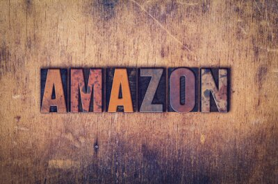 Vinilo Concepto de Amazon Tipo de letra de madera