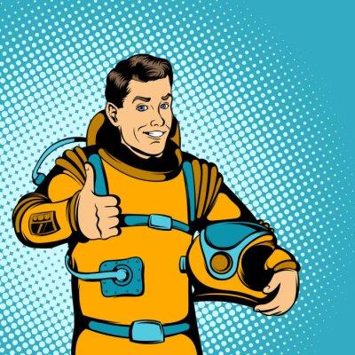 Vinilo Concepto de astronauta, estilo cómics