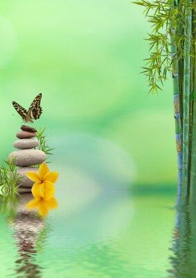 Vinilo concepto de naturaleza distensión, bien-être, relajación