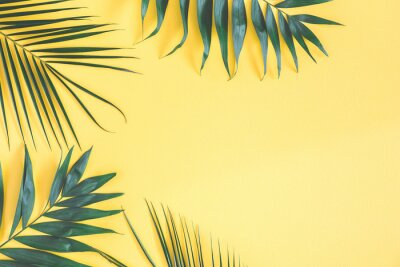 Vinilo Concepto de verano. Endecha plana, vista superior, espacio de copia