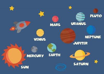 Vinilo concepto del sistema solar