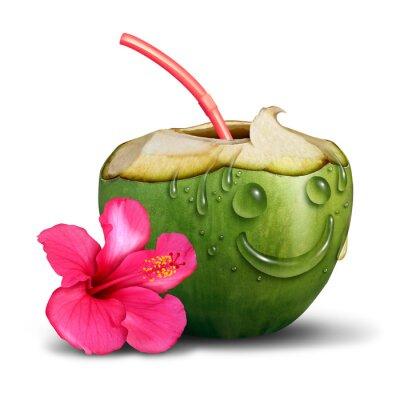 Vinilo Concepto feliz de la bebida tropical