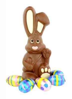 Vinilo Conejito y huevos de Pascua del chocolate