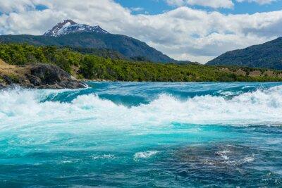 Vinilo Confluencia del río Baker y el río Neff, Chile