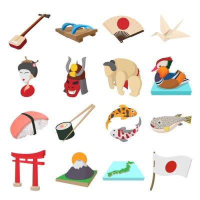Vinilo Conjunto de iconos de Japón