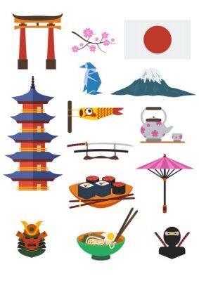 Vinilo Conjunto de la cultura japonesa