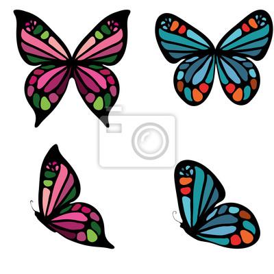 Conjunto de mariposas de colores vinilos para portátiles • vinilos ...