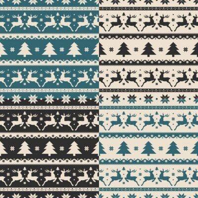 Vinilo Conjunto de Navidad y año nuevo patrones sin costura
