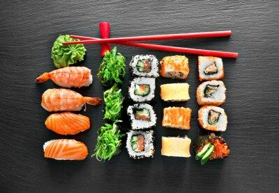 Vinilo Conjunto de sushi y palillos