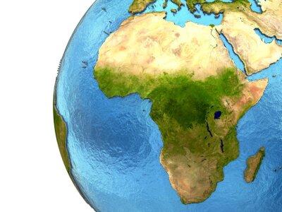 Vinilo Continente africano en la tierra