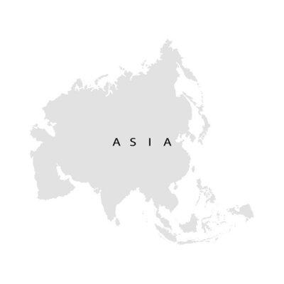 Vinilo Continente Asia