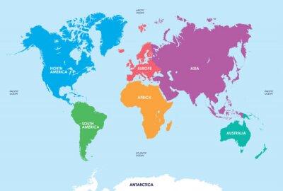Vinilo Continentes del Mundo, mapa