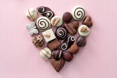 Vinilo Corazón de los caramelos de chocolate