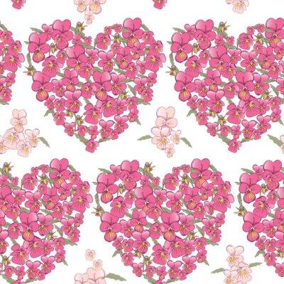 Vinilo Corazón rosado de pensamientos en un fondo blanco. Fondo transparente