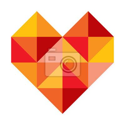 Vinilo Corazón símbolo abstracto