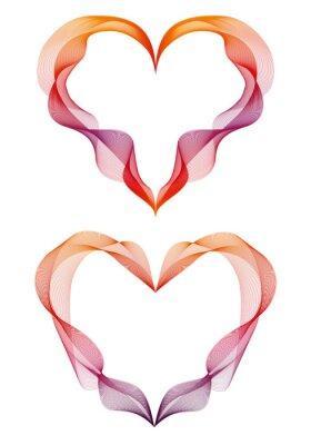 Vinilo corazones de la cinta abstractos, vector