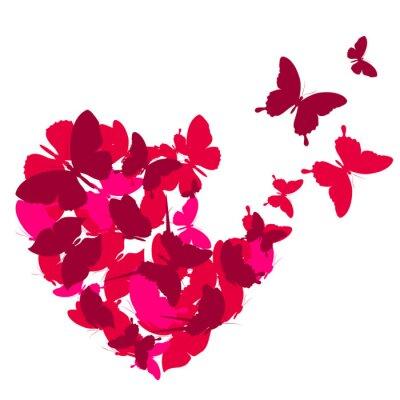 Vinilo corazones del amor,