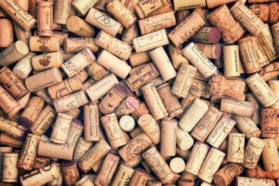 Vinilo Corchos del vino fondo