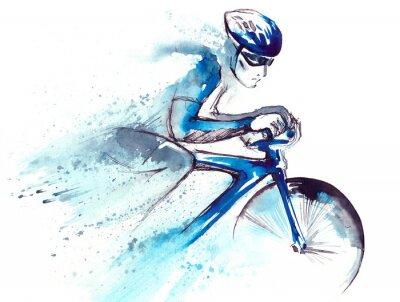 Vinilo corredor ciclista
