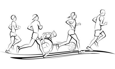 Vinilo Corredores de maratón