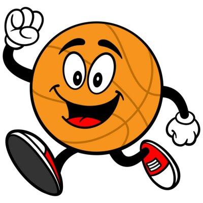 Vinilo Correr Cartoon Baloncesto