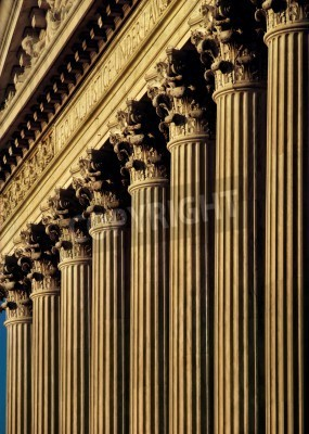 Vinilo Corte Suprema de Estados Unidos fachada y columnas del edificio