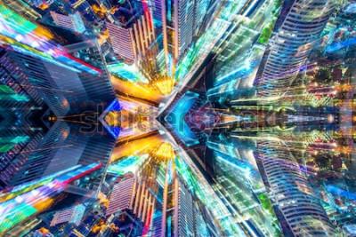 Vinilo Creativo gráfico ciencia ficción abstracta ciudad moderna antecedentes.