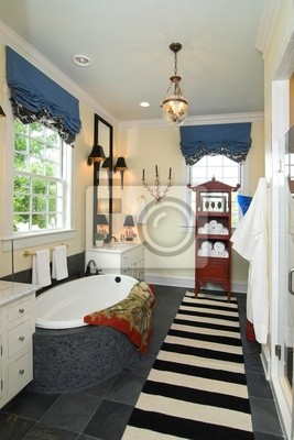 Cuarto de baño en la casa de ricos vinilos para portátiles • vinilos ...