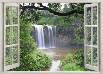 Vinilo Dangar Falls ver en la ventana abierta