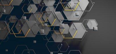 Vinilo Datos en la nube y red.Concepto de ciencia y tecnología.Malla y formas geométricas