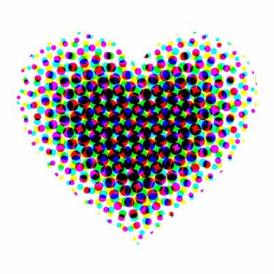 Vinilo De medios tonos del corazón