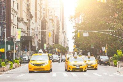 Vinilo De taxi amarilla típica en la ciudad de Nueva York