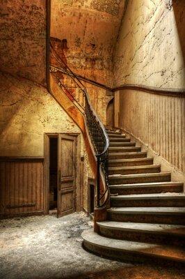 Vinilo Decaimiento escalera en una oficina central abandonada