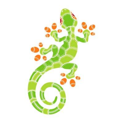 Vinilo Decorativo aislado lagarto de dibujos animados