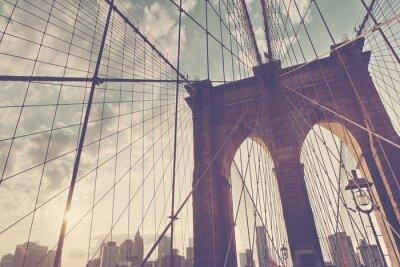 Vinilo Detalle estructural del puente de Brooklyn