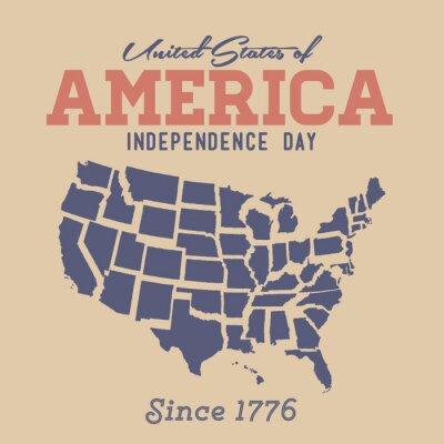 Vinilo Día de la Independencia Retro Regístrate