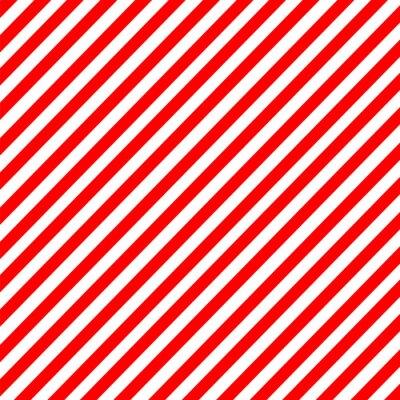 Vinilo Diagonal raya rojo-blanco patrón de vectores