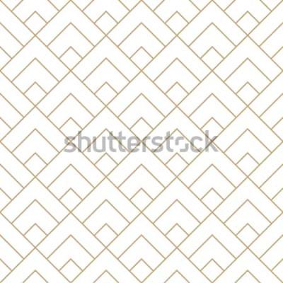 Vinilo Diamante geométrico azulejo mínimo gráfico vector patrón