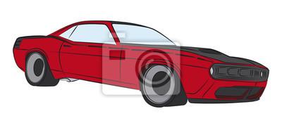 Dibujo Coloreado Muscle Car Vinilos Para Portatiles Vinilos Para