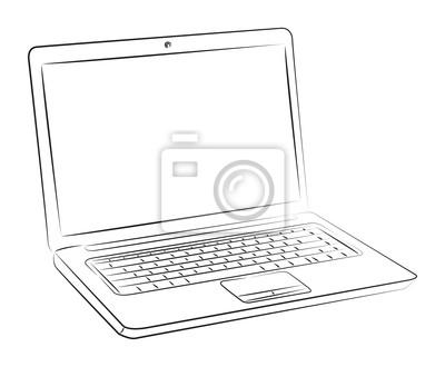 Dibujo De La Computadora Portátil Vinilos Para Portátiles Vinilos