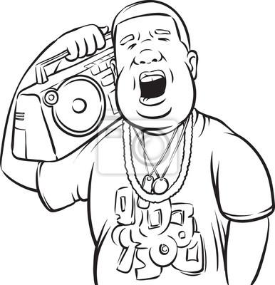 Dibujo pizarra - hombre negro con boombox en el hombro vinilos para ...