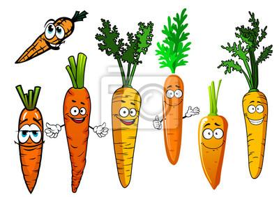 Dibujos Animados Naranja Aislado Zanahoria Verduras Vinilos Para La Pared Raiz Principal Crujiente Alimento Myloview Es Conjunto de maíz lindo con personaje de dibujos animados de expresión. vinilo dibujos animados naranja aislado zanahoria verduras