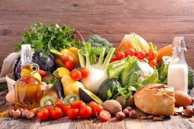 Vinilo Dieta equilibrada concepto de alimentos