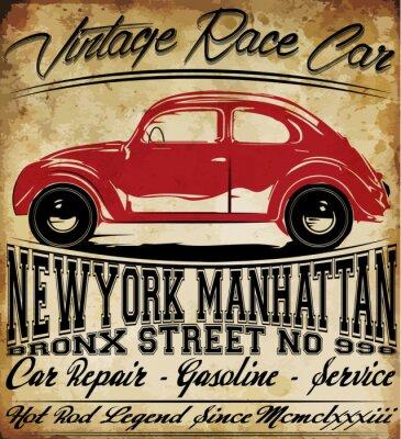 Vinilo Diseño clásico retro de la camiseta del hombre del vintage