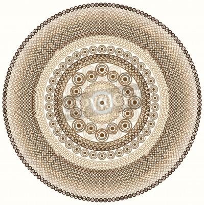 Vinilo Diseño colorido de la mandala de la alheña