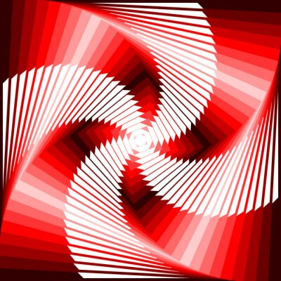 Vinilo Diseño colorido vórtice movimiento ilusión tetragon volver geométrica