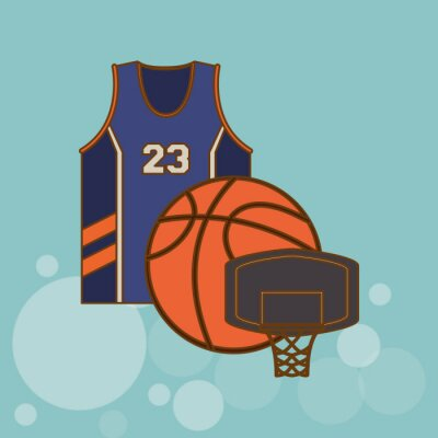 Vinilo Diseño de iconos de baloncesto