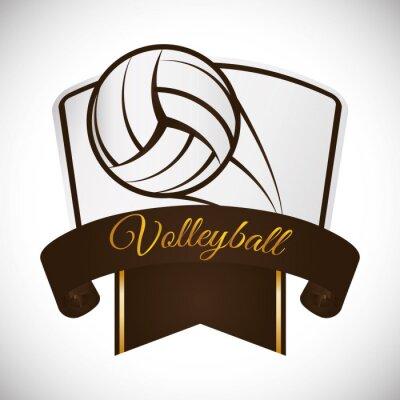 Vinilo Diseño de iconos de voleibol