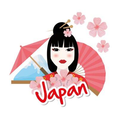Vinilo Diseño de la cultura de Japón