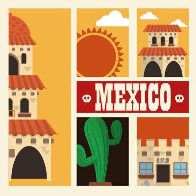 Vinilo Diseño de la cultura mexicana
